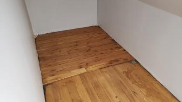 Cedar floor in storage closet