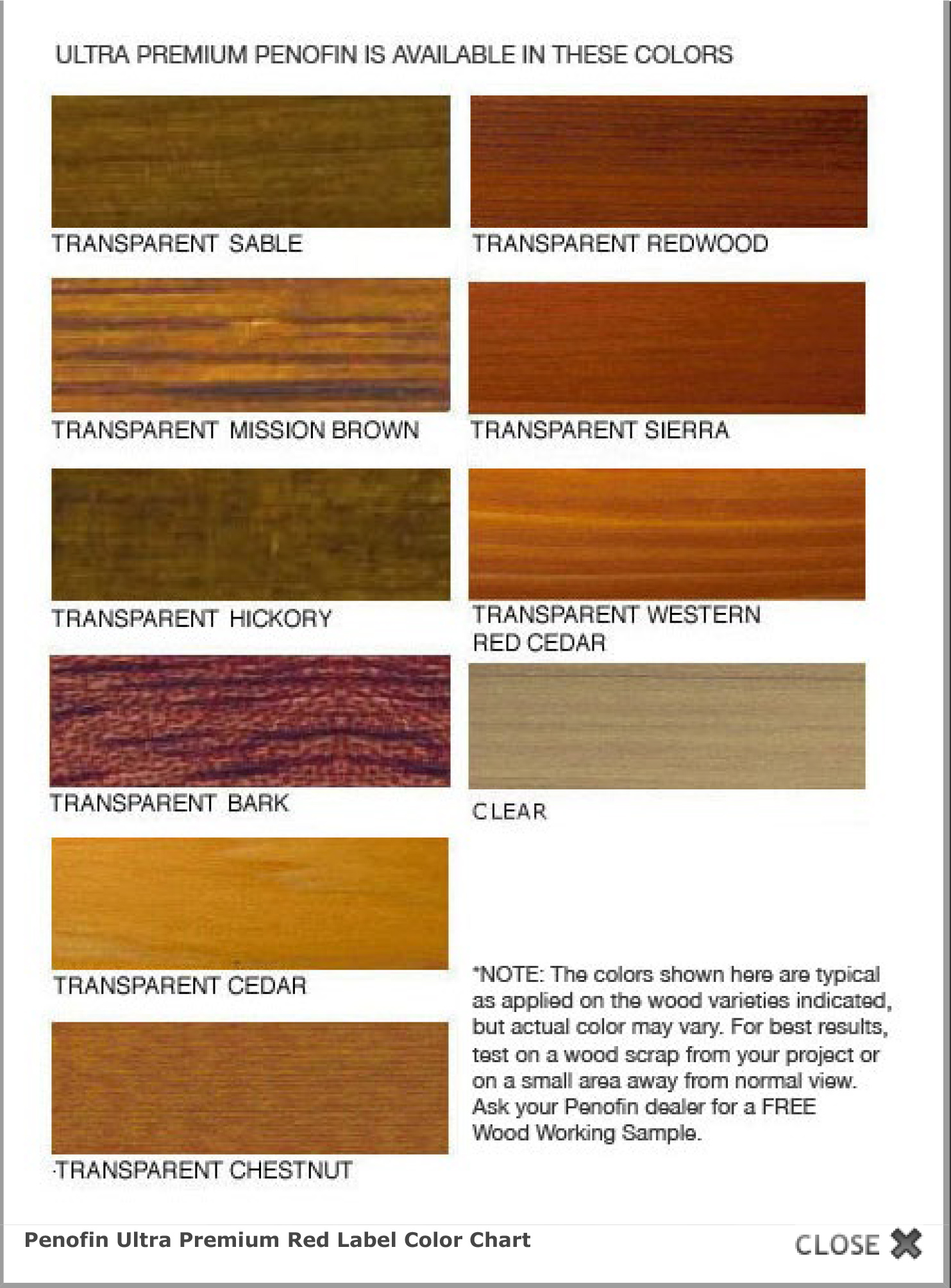 Ultra Premium Red Label Wood Stain Finish | Penofin